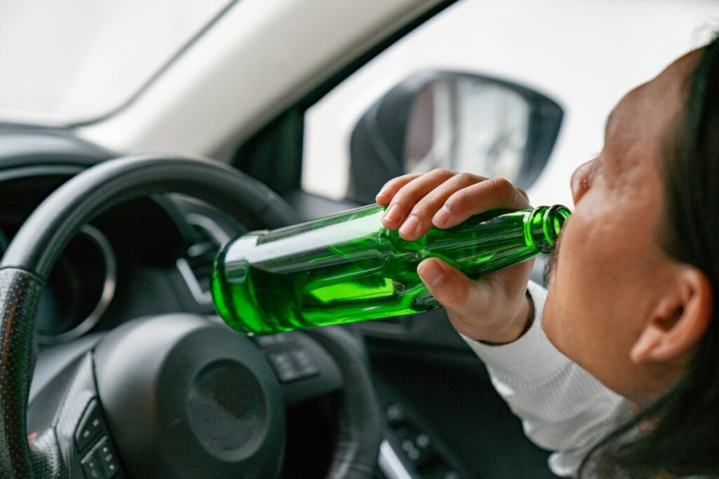 Drinking while operating a vehicle