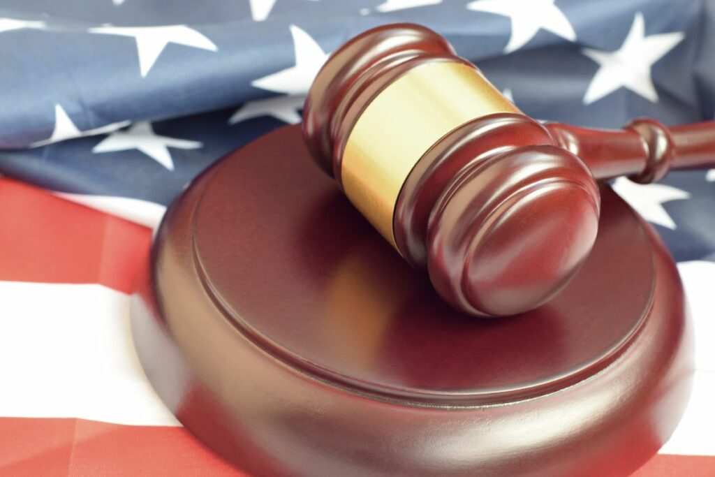 Gavel & American Flag